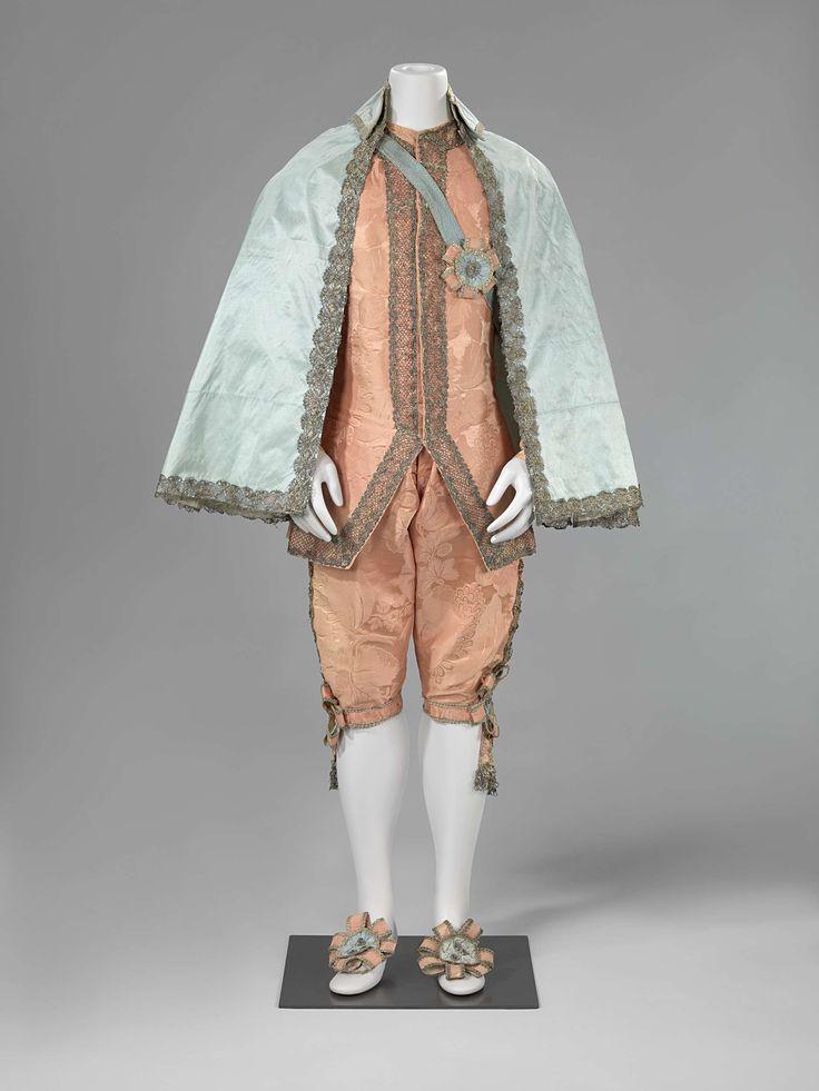 Kniebroek van roze zijden damast, anoniem, ca. 1740 - ca. 1770
