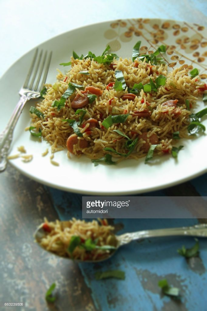 Pilaf is common dish in Central Asia and Middle East, but also loved in Japan. This pilaf is seasoned with curry.