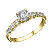 1.00 cttw GIA Certified Diamond Engagement Ring in 14k Yellow Gold (1.00 cttw, I Color, VVS2 Clarity)