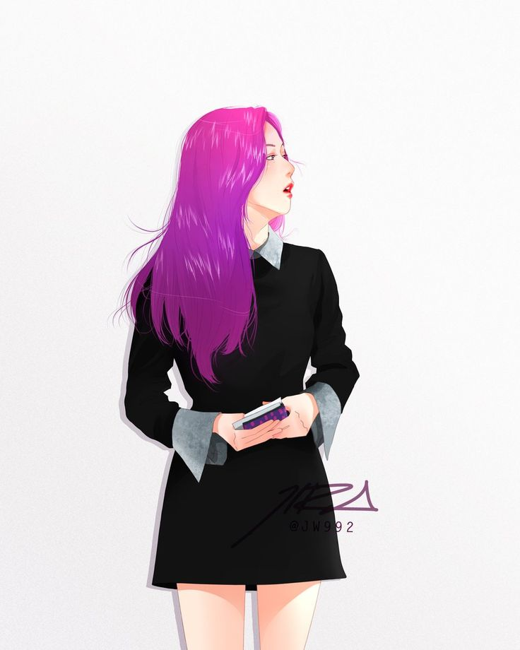 Gnt que fanart lindaaa, o cabelo da Jisoo ficou tão vibrante, ela está linda