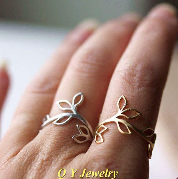 Высокое качество среднего пальцев Boho Chic нежный листья филиал кольцо хиппи латунной костяшки винограда кольцо женские кольца женщины изящных ювелирных изделий купить на AliExpress