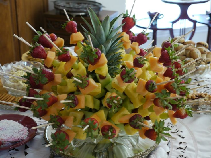 pineapple decorations for kitchen modern lights here is another example - fruit kabobs skewers in ...