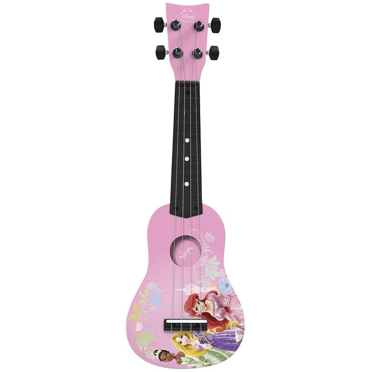 Sparkle and strum with this Disney Princess Mini Guitar that's fit for a princess! This beginning guitar is designed and sized especially for young players. Featuring a traditional body shape for great sound, real tuning gears, and easy-playing nylon strings.<br><br>Bring your child's favorite characters to life with Disney Princess toys & games, dressup and pretend, riding toys, bikes, playsets, collectibles and more! You can find everything Disney Princess <a href...