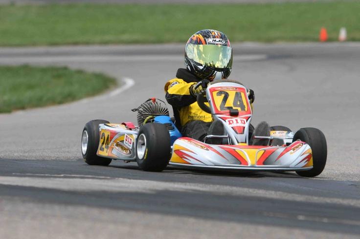 My son in his 2006 championship rookie season. Intrepid Cadet Kart, Parilla Gazelle motor.