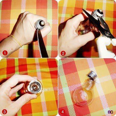 Cantinho da Gi: Reciclagem com garrafas e vidros