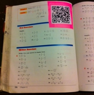 146 best qr codes images on pinterest qr codes educational qr codes in textbooks fandeluxe Choice Image