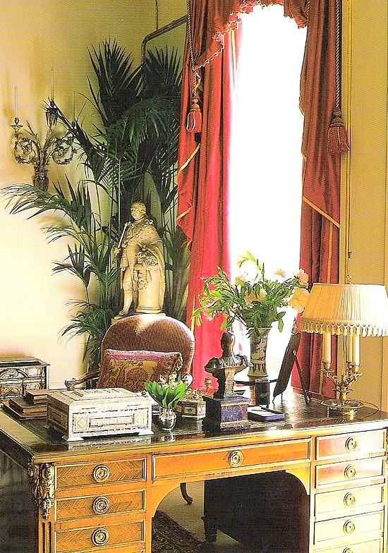 Clarence House -  Garden Room. Interior Design by Robert Kime.