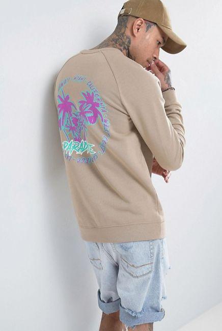 ASOS Sweatshirt With Paradise Back Print