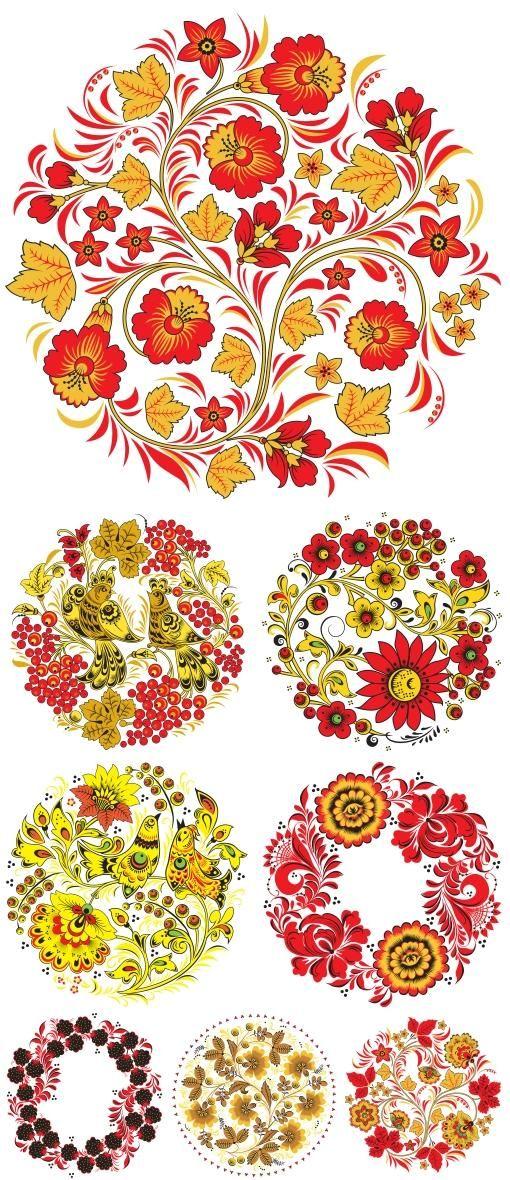 Pattern Textures - Хохлома (PNG)