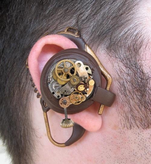 Steampunk hearing aid: Steampunk Bluetooth, Pockets Watches, Steampunk Fashion, Hearingaid, Hearing Aid, Steam Punk, Steampunk Gadgets, Fashion Accessories, Steampunk Design
