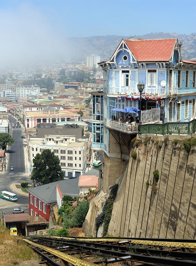 """Valparasio, Chile is a popular cruise stop on the Lima to Buenos Aires route. Be sure to ride a funicular up one of the steep hills """"cerros."""" For more tips, check out Lonely Planet: http://www.lonelyplanet.com/chile/valparaiso"""