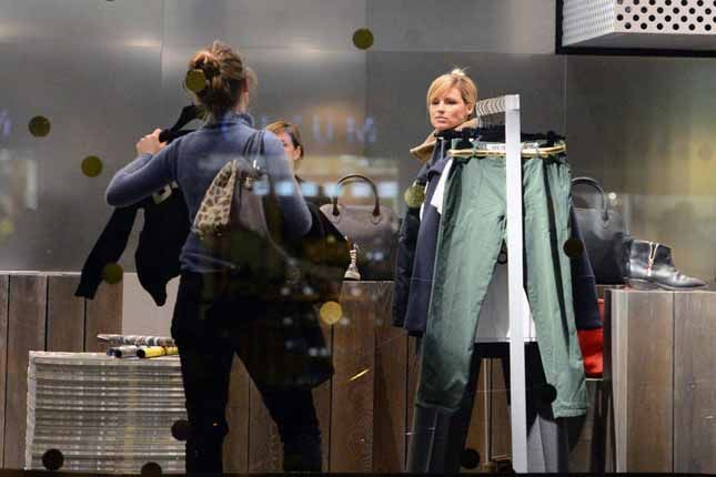 Michelle Hunziker inside Flagship Store, Golden Goose Deluxe Brand (Milan).