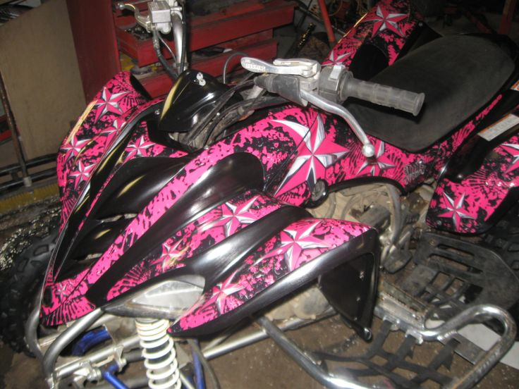 My Old Raptor After Her Pink Vinyl Wrap Yamaha