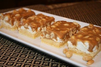 Salted Nut Roll bars - all I had was butterscotch chips and they were great.  I can only imagine how wonderful they are with PB chips.  YUM!!
