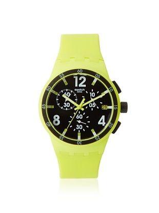 Swatch Men's SUSG400 Yellow/Black Silicone Watch