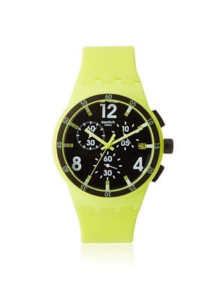 Swatch Men's SUSG400 Yellow/Black Silicone Watch