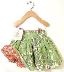 Red - Green bubble skirt
