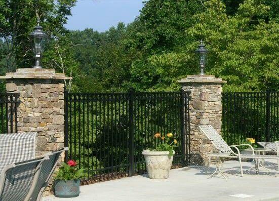 Stone Fence Pillars : Best gates railings fences wrought iron images on
