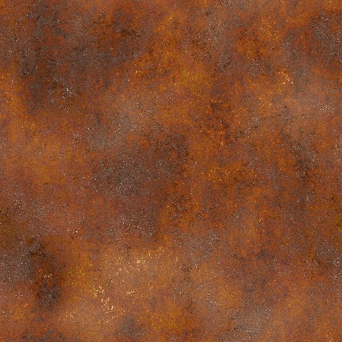 Corten Steel, an amazing material that is super strong and beautiful.  Rusts to certain point then doesn't rust any further.  Great for outdoors and also indoors come rain or shine.