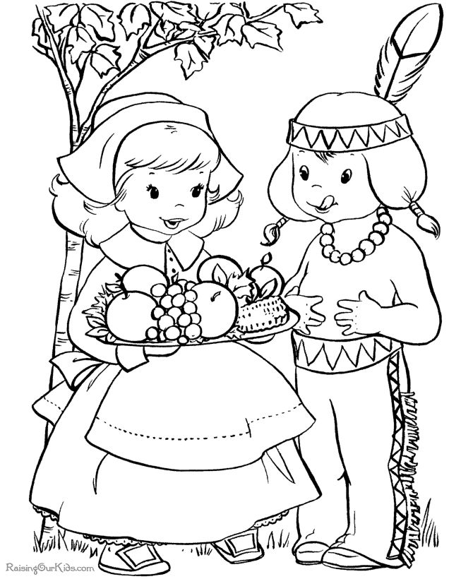 Lots of Thanksgiving coloring pages for the kids' table -- free printables. This is my favorite coloring page site.