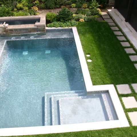 78 best L Shaped Pools images on Pinterest | Modern pools, Above ...