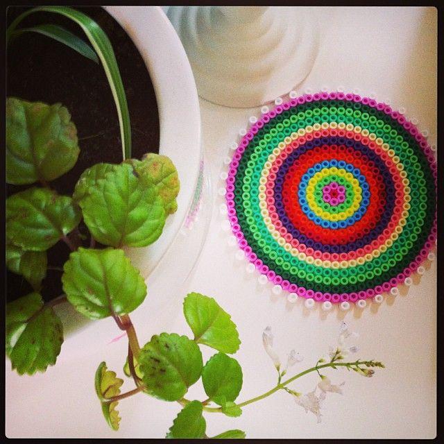 Coaster hama beads by louauxpois