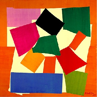 The Tate show, Matisse, cuts outs, was built around this seminal work. The Extraordinary vibrancy and boldness of form of this work are characteristic of all the cut outs.