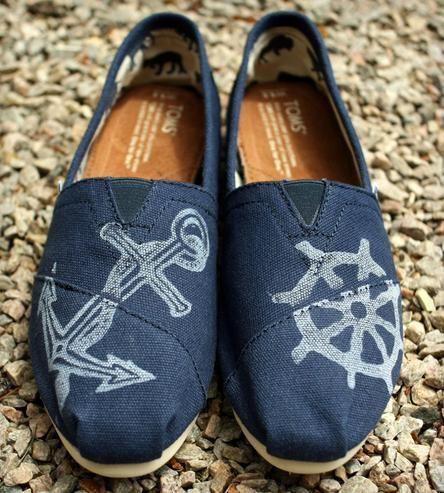 Nautical Anchor Print Toms Shoes