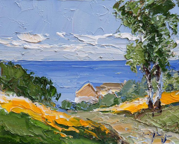 Coastal Retreat, original oil painting by Erich Paulsen (12 x 10 inches)