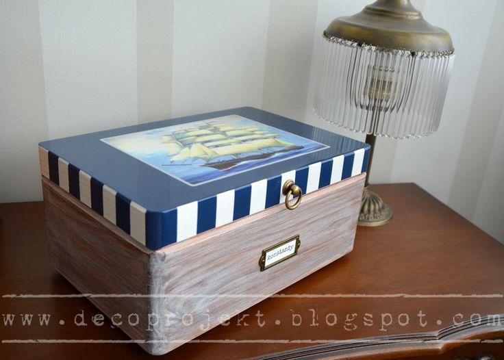 marine wooden box for a boy :)