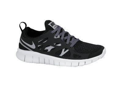 Nike Free Run 2 Kids Trainer - Black Grey / Anthracite / White