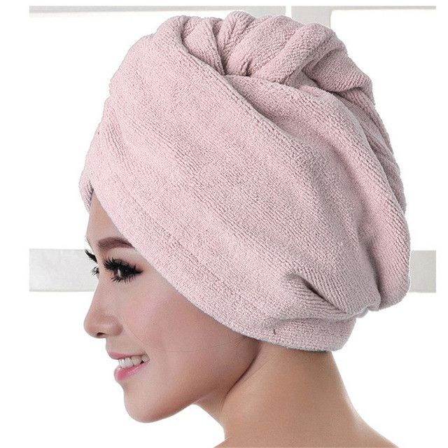 Ouneed Microfiber Bath Towel Hair Dry Hat Cap Quick Drying Lady Bath Tool New quality first DROP SHIP