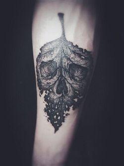 Leafy arm sleeve filler #tattoo
