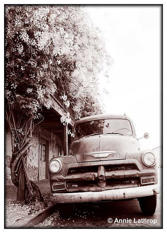 Black and White Photography - Old Truck Photography -  8x10 Affordable Fine Art - Gift under 20