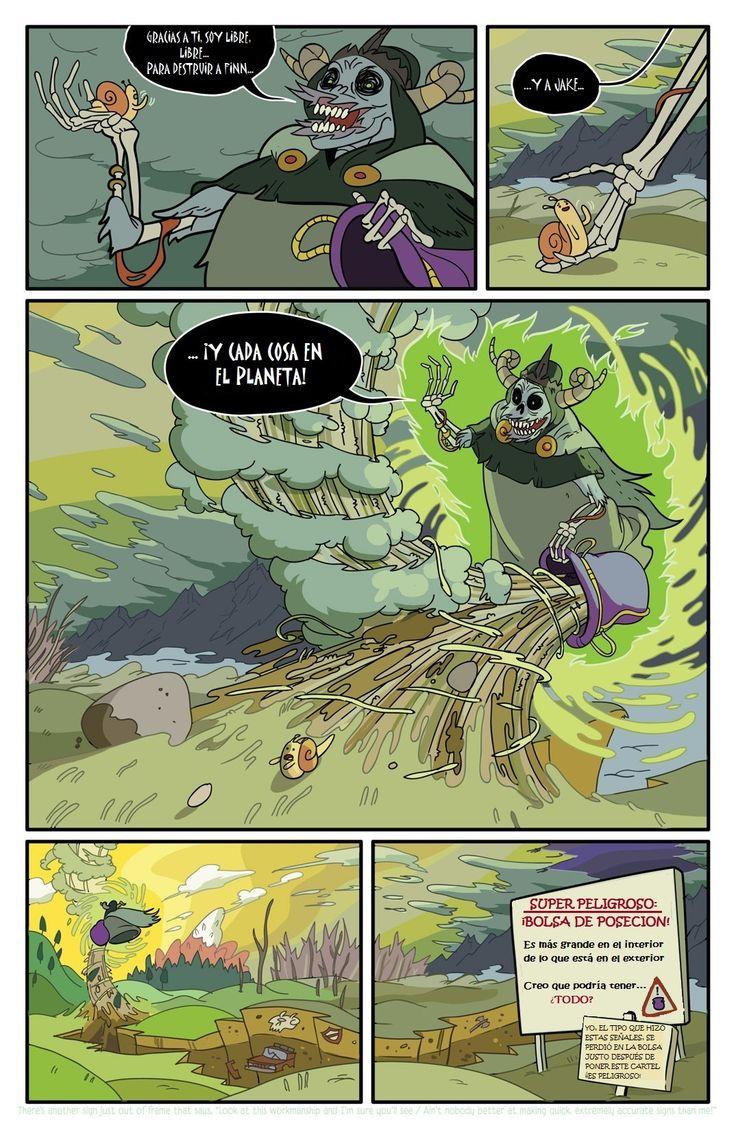 3era página de historieta de Comic#1 Hora de Aventura en Español Latino