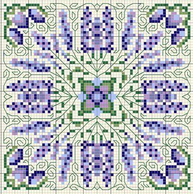 Lavender Free Cross Stitch Chart