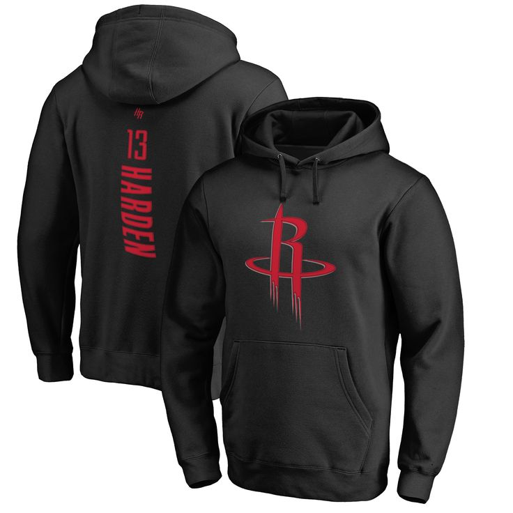 James Harden Houston Rockets Backer Pullover Hoodie - Black