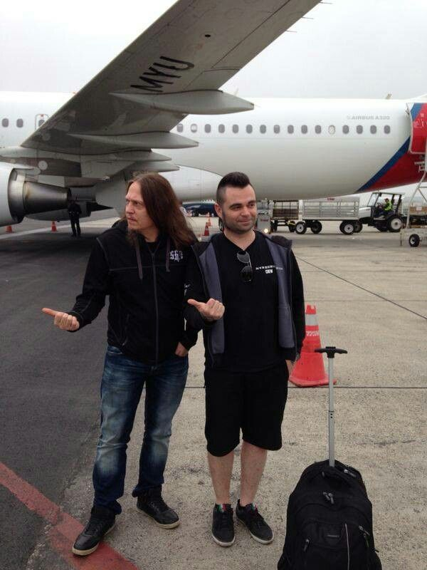Peter and tour manager Bruno...