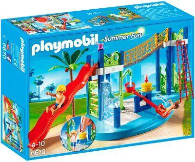 Playmobil Summer-Fun Wasserspielplatz: Mit Wellenrutsche, funktionierender Dusche und Wasserwippe.