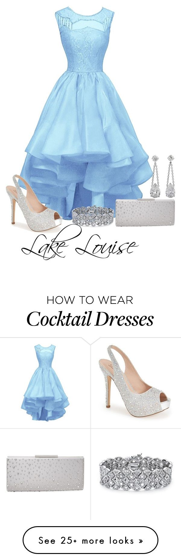 """""""Lake Louise"""" by sordida on Polyvore featuring Lauren Lorraine, Badgley Mischka and Palm Beach Jewelry"""