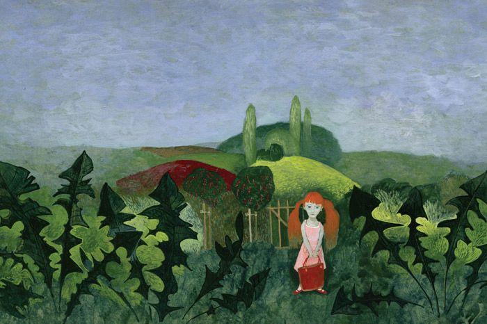 "Tomáš Řízek illustration for ""Majdalenka in the Garden""."