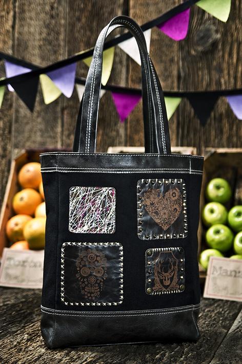 Mi Shopper Bag Patchwork en Lona