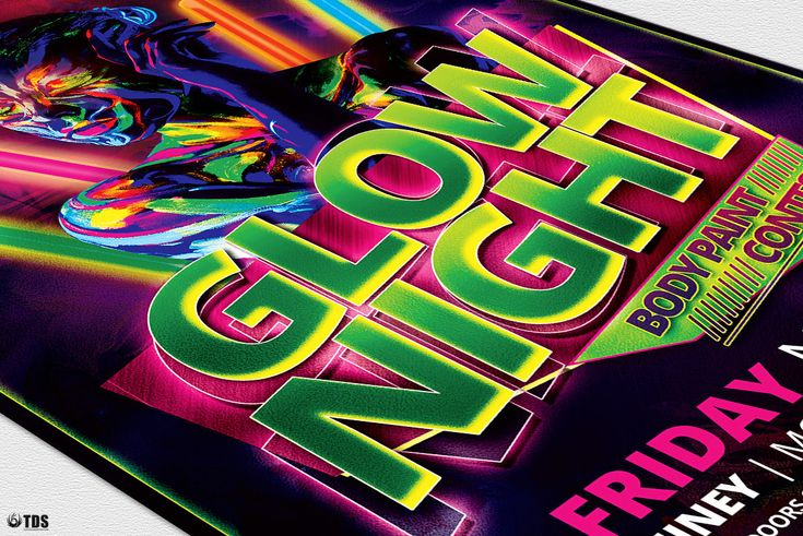 Glow Night Flyer Template By Thats Design Store