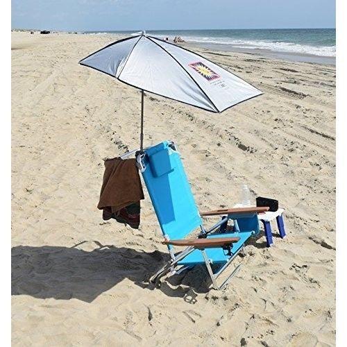Beach Umbrella Ultimate Sun Protection Block UVA and UVB Rays Color Silver NEW #RIOBEACH #Beach