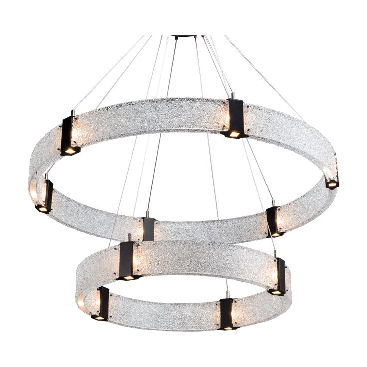 Two Tier Parallel Ring Chandelier 48″D