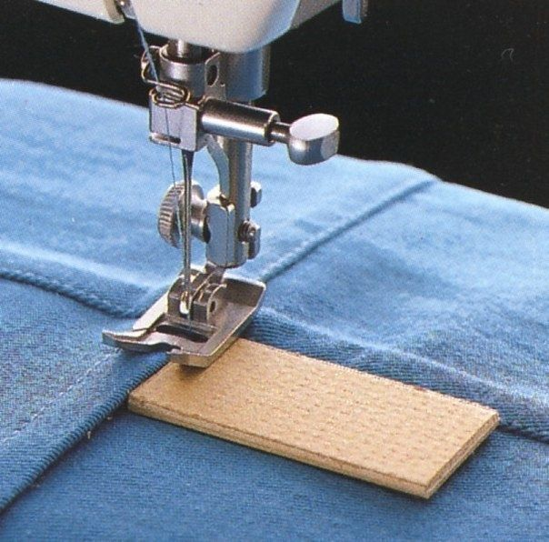 Sewing a thick seam