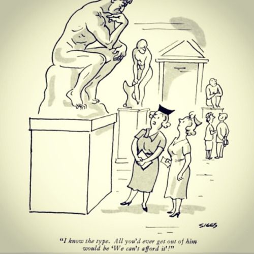 """#Rodin in #cartoon @ReneTheMovie: .H. Siggs - """"I know the type. All you'd ever get out of him would be 'We can't afford it'!"""" #funny on Flickr.    René (The Movie)is a feature film byHoma Taj(IMDb)- René is a ménage à quatre bet Art (Auguste RODIN), Poetry (RILKE), Theater (SHAW) & Dance."""