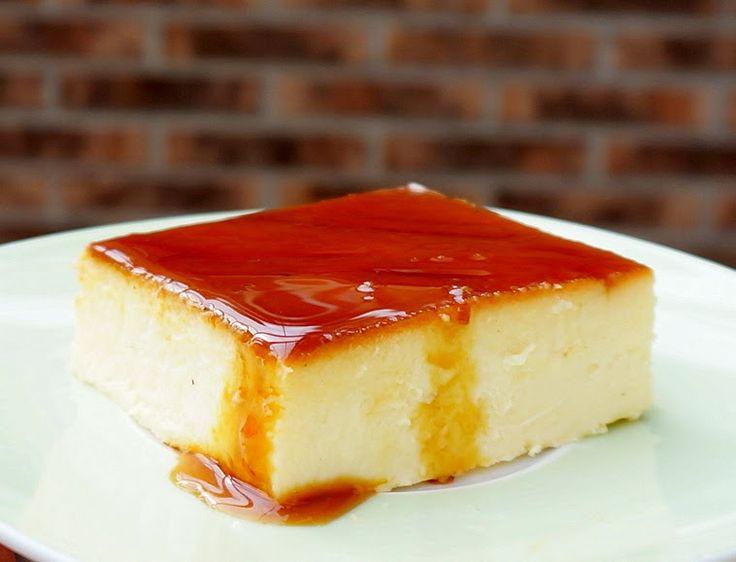 Flan de queso ~ Pasteles de colores