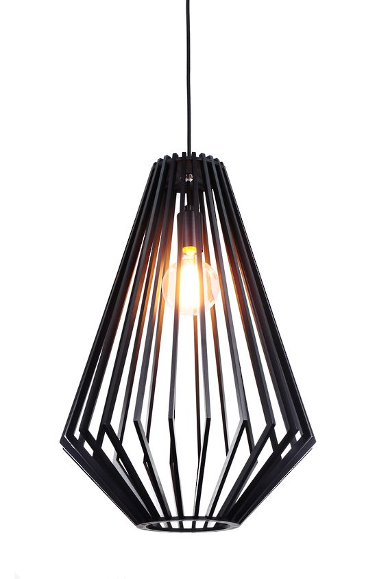 SVEN BLACK WOOD LARGE PENDANT - Modern Pendants - Pendant Lights - LIGHTING DIRECT LIMITED