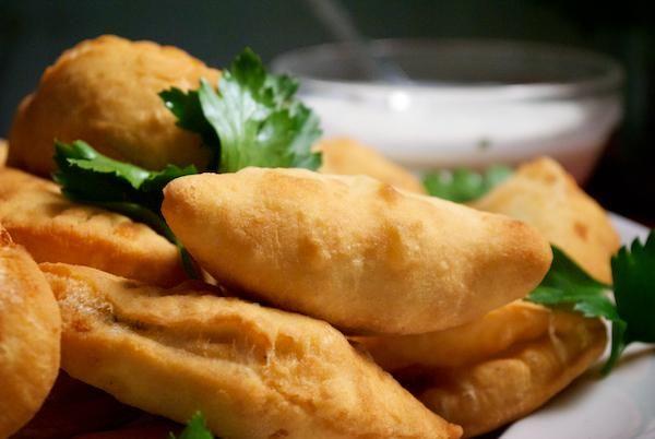 Smažené zemiakovo-zeleninové pirohy